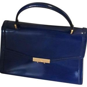 Tory Burch Juliette Satchel Navy Patent used once